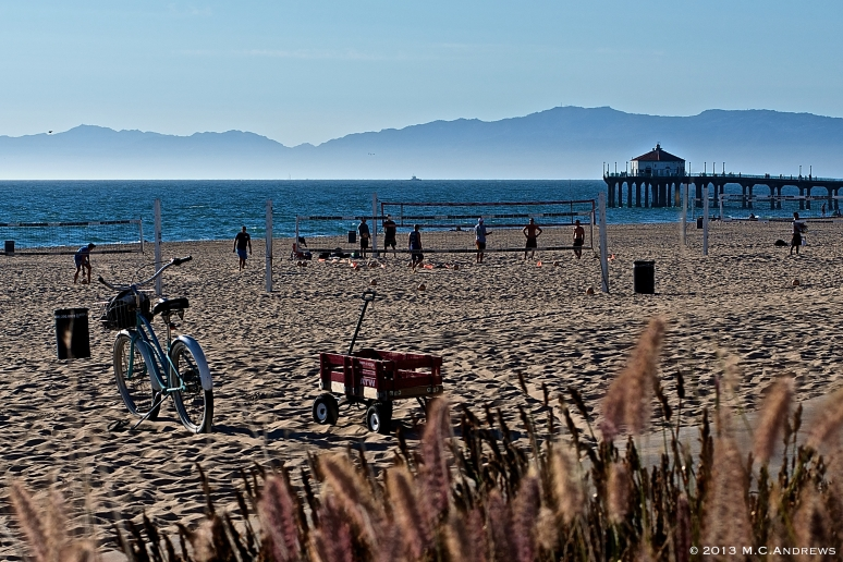 Wheeling on the Beach